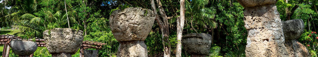 Guam scenery rock formations.